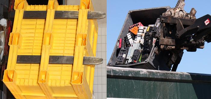 Eco recycling box at RWM.