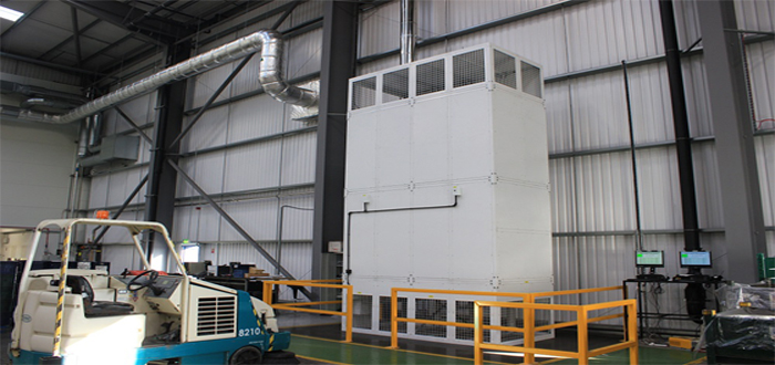 Air rotation heating proves ideal for Sertec's logistics centre.
