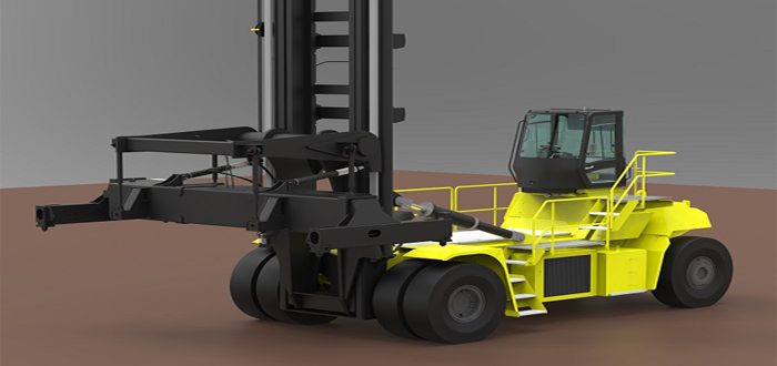 Hyster develops 48 tonne electric truck.