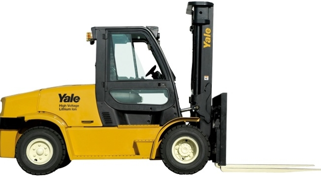 Yale launches new 8 tonne electric counterbalance truck.