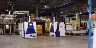 BA Systèmes automates the internal logistics of Sappi's Maastricht paper mill.