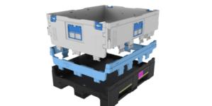 New foldable large container for Automotive parts logistics.