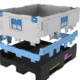 New foldable large container for Automotive parts logistics.