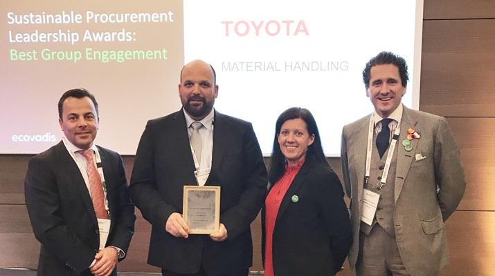 EcoVadis awards Toyota for Best Group Engagement.