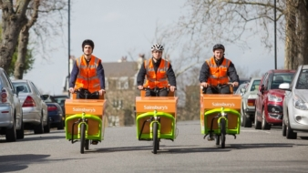 Sainsbury's is setting the wheels in motion on an innovative new trial – the UK's first grocery delivery service by electric cargo bike