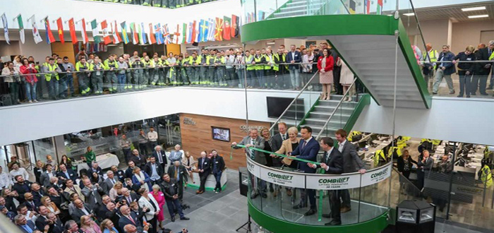 Official opening of Combilift's new global headquarters and sustainable manufacturing facility.