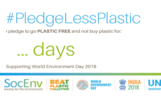 Time to #PledgeLessPlastic for World Environment Day 2018.