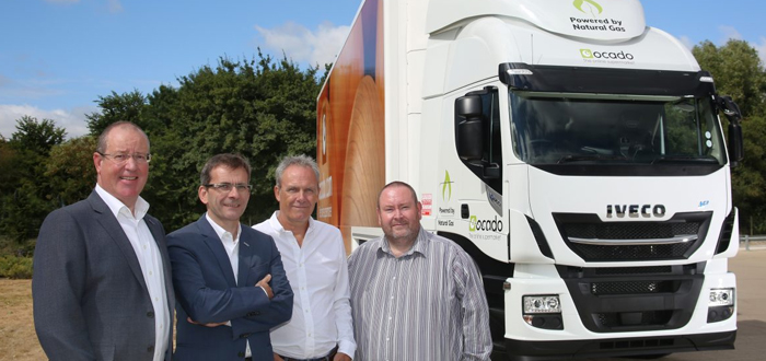 Online Supermarket Ocado Takes On 29 IVECO Stralis NP CNG Trucks In UK's Largest Ever Single Order.