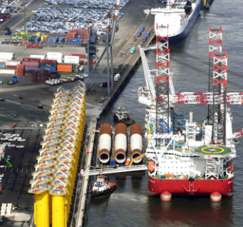Cuxport's New Berth No. 4 Is The Installation Port For The Deutsche Bucht Wind Farm.