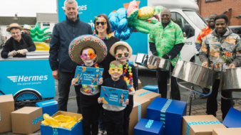 DRIZZLE TO SIZZLE AS OLDHAM MUM SCOOPS BIG PRIZE DURING SPECIAL DELIVERY FROM HERMES