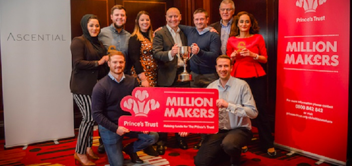 HERMES TEAM SECURES LARGEST EVER AMOUNT RAISED IN YORKSHIRE FOR THE PRINCE'S TRUST MILLION MAKERS