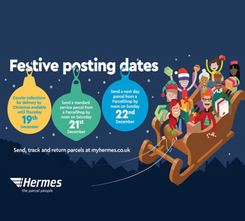 HERMES ANNOUNCES LAST DATES FOR CHRISTMAS DELIVERIES