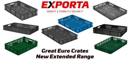 Exporta Launches New Range of Recycled Euro Crates and Extends its Euro Crate range